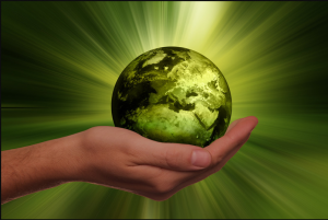earth in hands; energy efficient