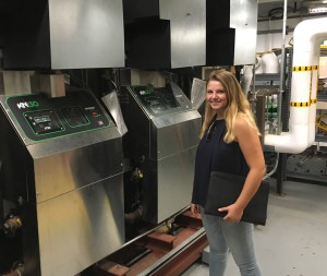 Intern Lexi Wittstadt on a site visit.